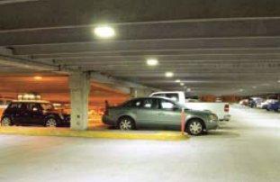 Освещение подземного гаража светильниками на основе СД
